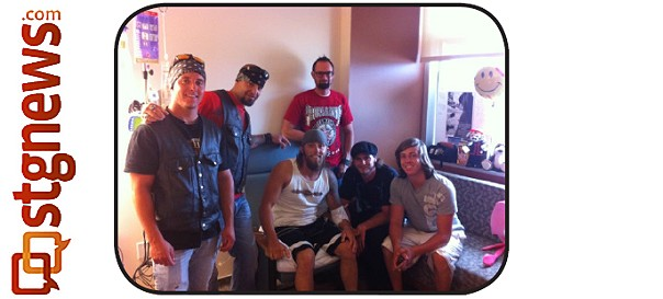 Austin Sharp (center) surrounded by fellow bikers as during his recovery at Dixie Regional Medical Center, St. George, Utah, August 2013 | Photo taken from event flier, courtesy of Amy Macomber, St. George News