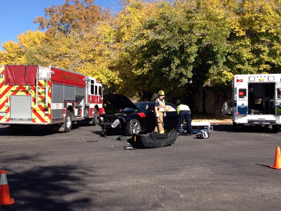 Collision Occurs After Woman Runs Stop Sign St George News