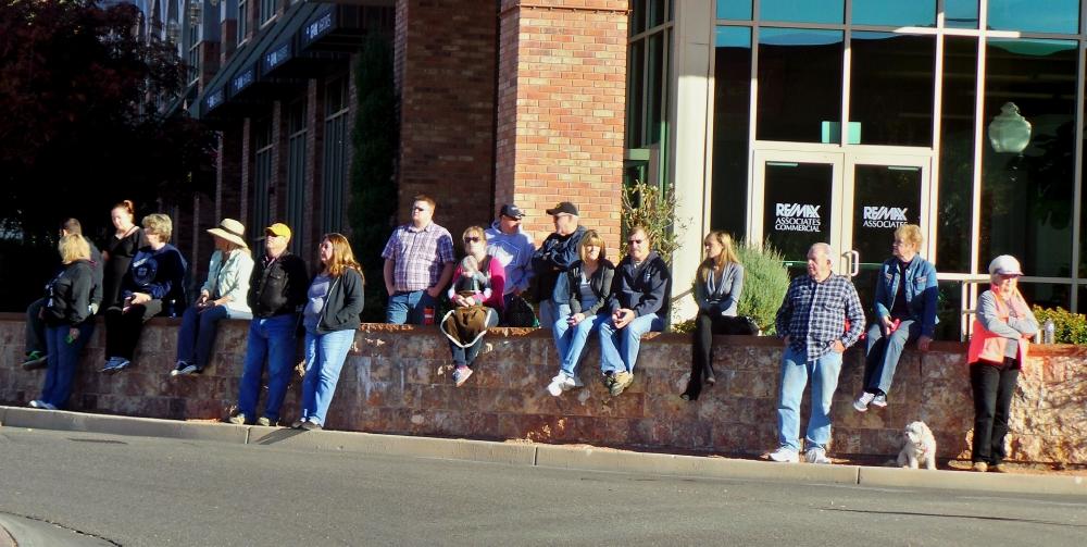 Patriotic spectators spanning generations, City of St. George/American Legion Post 90 Veterans Day Parade and Concert, St. George, Utah, Nov. 11, 2013 | Photo by Alexa Verdugo Morgan, St. George News
