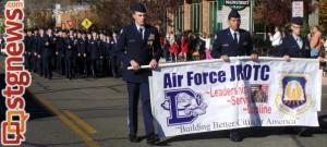 Dixie High School Air Force JROTC, City of St. George/American Legion Post 90 Veterans Day Parade and Concert, St. George, Utah, Nov. 11, 2013 | Photo by Alexa Verdugo Morgan, St. George News