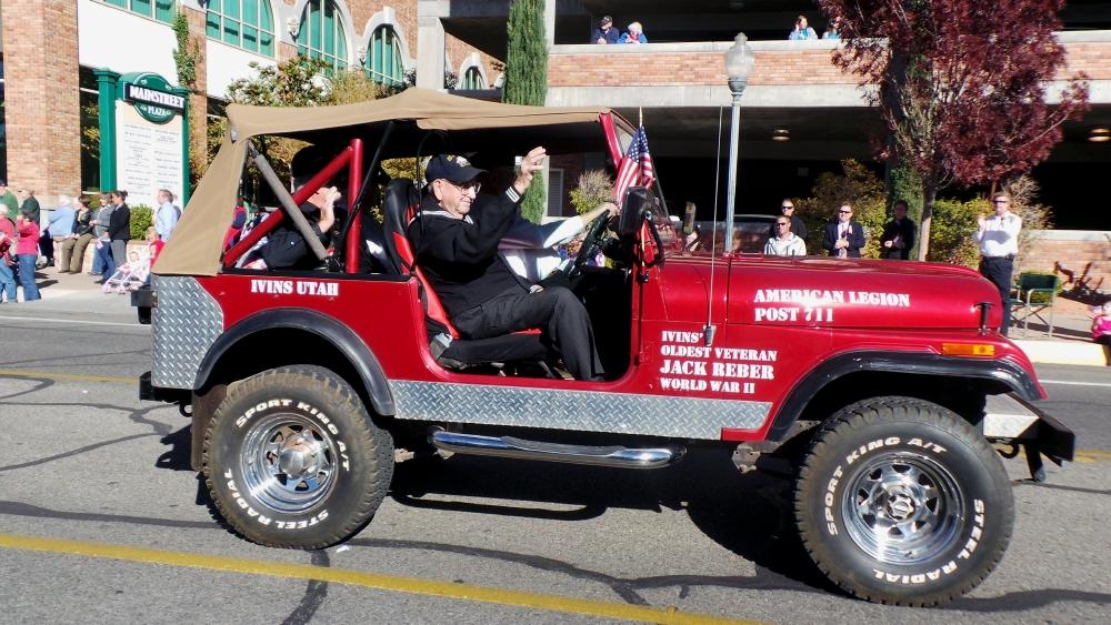 WWII vet Jack Reber, City of St. George/American Legion Post 90 Veterans Day Parade and Concert, St. George, Utah, Nov. 11, 2013 | Photo by Alexa Verdugo Morgan, St. George News
