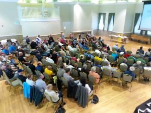 Audience at the Southern Utah Bike Summit, St. George Art Museum, St. George, Utah, Nov .16, 2013 | Photo by Drew Allred, St. George News