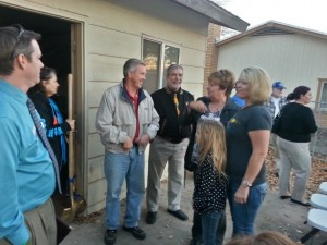 Washington City Mayor Ken Neilson - now one of Candice Nay's neighbors - attended the Habitat for Humanity ceremony for the Nay Family, Washington City, Utah, Nov. 26, 2013 | Photo by Drew Allred, St. George News