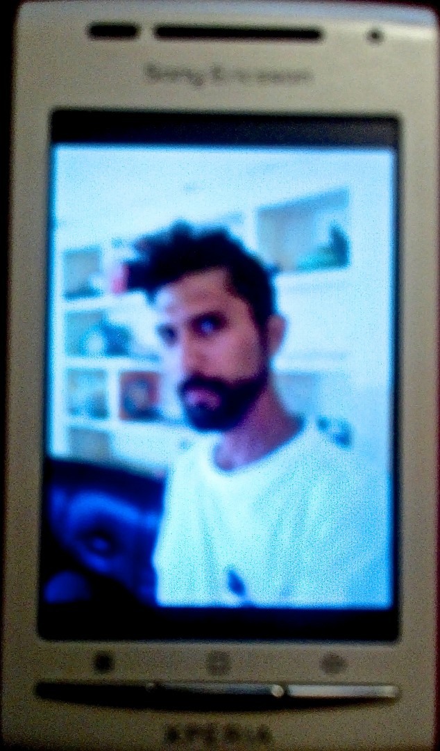 Craig Cobb-Phillips photo remaining on Cheryl Sim's smart phone from Chennai, India, date unspecified   Photo of phone photo by Joyce Kuzmanic, St. George News