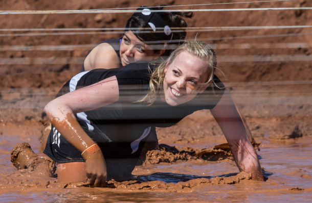 National Guard sponsored Hurricane Mud Run drew 400 runners for the muddy 5K obstacle course, Hurricane, Utah, April 20, 2013 | Photo by Chris Caldwell, St. George News