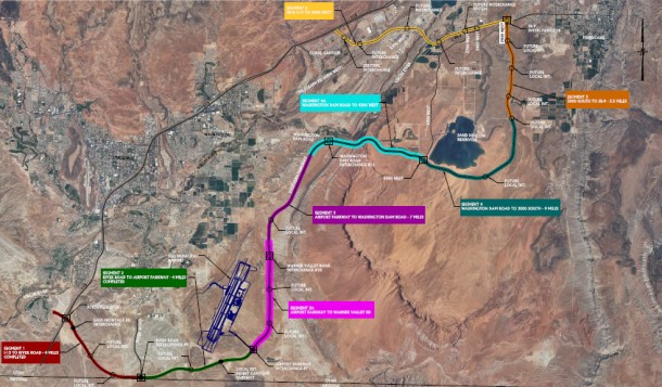 Southern Parkway route, Washington County, Utah | Image and PDF courtesy the Utah Department of Transportation, St. George News