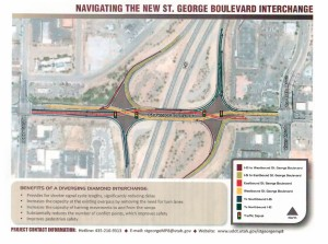 Graphic of the completed interchange courtesy of the Utah Department of Transportation, St. George News