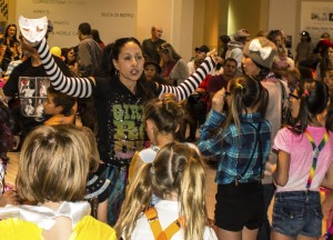 Center: Dina Martinez, Instructor, leads teams from Dance Fuzion Dance Studio in Hurricane invaded the food court of Red Cliffs Mall Halloween in a flash mob dance fest. St. George, Utah, Oct. 31, 2013 | Photo by Jeremy Crawford, St. George News