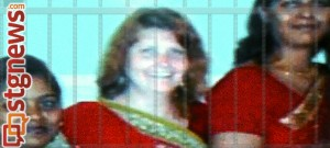 "Cheryl Sim with friends in Chennai India, before moving in with Craig Cobb-Phillips and finding herself behind ""invisible bars,"" subjected to domestic violence. Chennai, India, 2010-11 