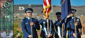 Air Force junior ROTC in the St. George Veterans Day Parade, St. George, Utah, Nov. 11, 2013 | Photo by Dallas Hyland, St. George News
