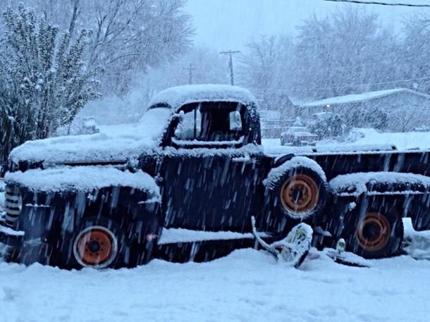 Snowfall in Washington City, Utah, Dec. 7, 2013 | Photo by Kimberly Scott, St. George News