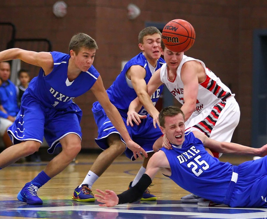 Though light on experience, Dixie is heavy on guts and hard work. File photo from Spanish Fork at Dixie, Ken Robinson Classic, St. George, Utah, Dec. 14, 2013 | Photo by Robert Hoppie, St. George News