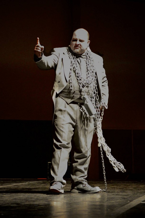 Mori Kessler as Marley in Scrooge at the 2012 Dickens Festival in St. George, Utah, Nov. 30, 2012 | Photo by Dave Amodt, St. George News