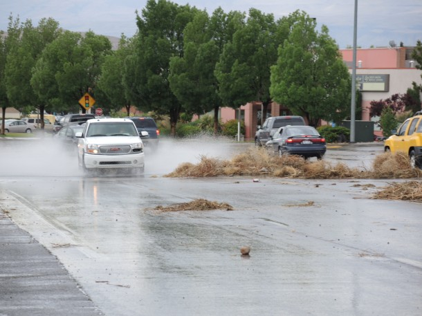 Flooding on River Road, St. George, Utah, May 6, 2013 | Photo by Dave Amodt, St. George News