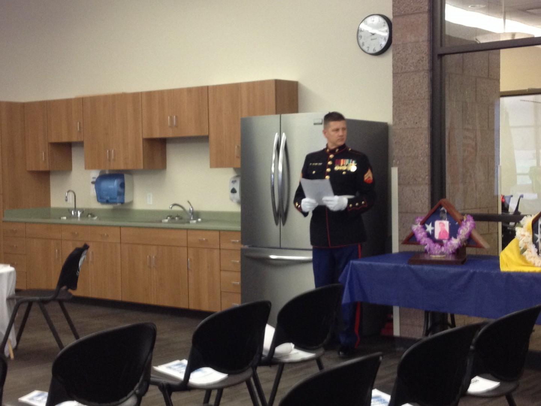 Honored guests at the Southern Utah Veterans Home's Pearl Harbor survivors ceremony, Ivins, Utah, Dec. 8, 2013 | Photo by Scott Heinecke, St. George News