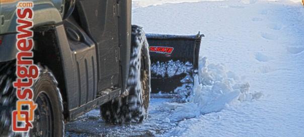 Snow plow, St. George, Utah, Dec. 8, 2013   Photo by John Teas, St. George News