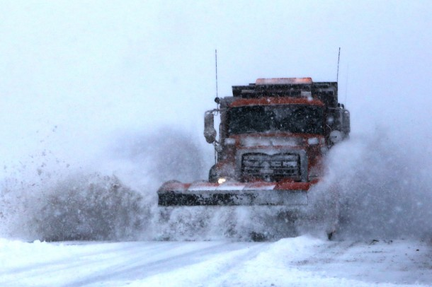Snowplow on SR-18, Washington County, Utah, Dec. 7, 2013 | Photo by John Teas, St. George News
