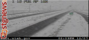 Interstate 15 northbound mile post 1.17, St. George, Utah, 2:09 p.m. Dec. 7, 2013 | Image courtesy of UDOT traffic cams, St. George News