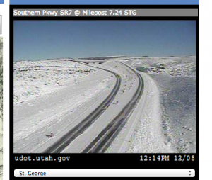 Southern Parkway at mile post 7.24 at 12:15 p.m., St. George, Utah, Dec. 8, 2013 | Image courtesy of UDOT, St. George News