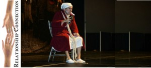 Jared Davis as Ebenezer Scrooge in the performance of Scrooge at the Dickens' Christmas Festival, St. George, Utah, Nov. 30, 2012 | Photo by Dave Amodt, St. George News