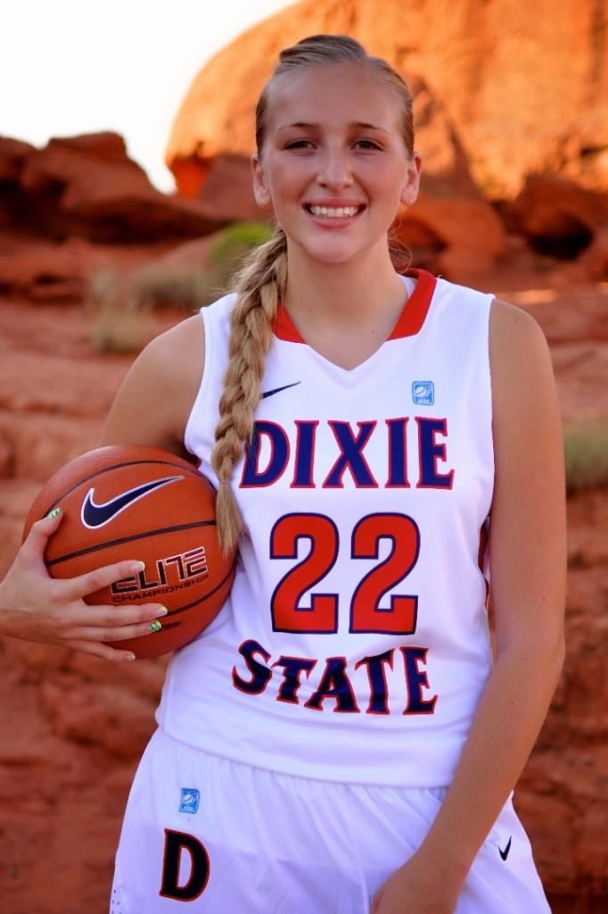 Dixie State student-athlete Taylor Mann, St. George, Utah, undated | Photo courtesy of Julie Buchanan