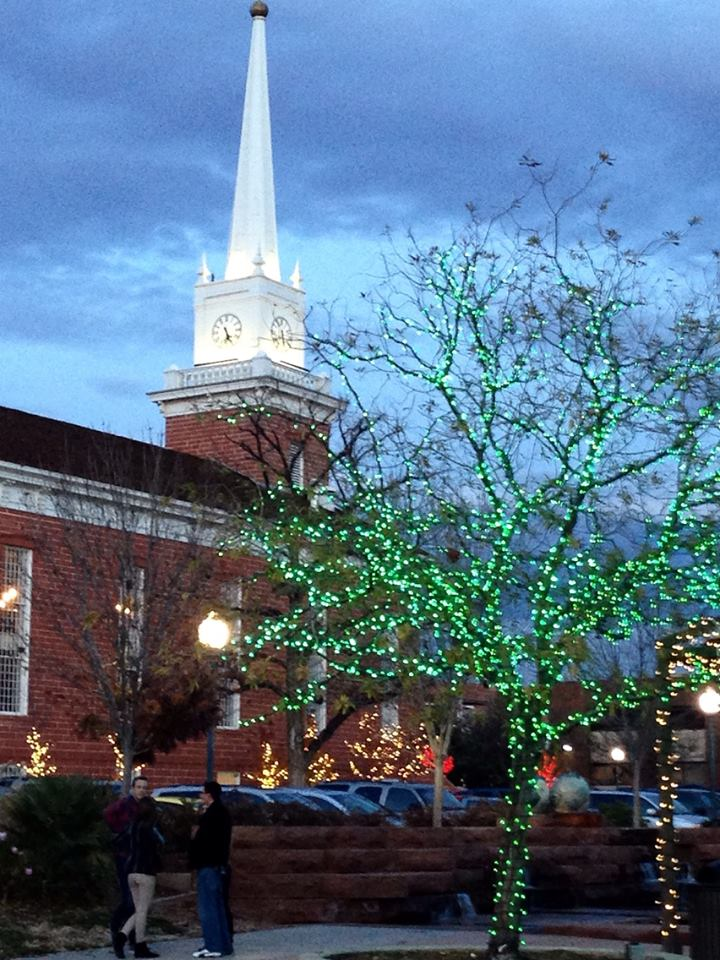 Christmas In Town Square Lights Up St George City