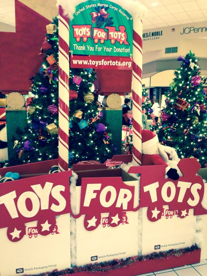 Red Cliffs Mall Toys for Tots drop box, St. George, Utah, Dec. 3, 2013 | Photo by Kimberly Scott, St. George News