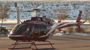 Santa and Mrs. Claus flew in a helicopter and landed in the Hurricane Wal-Mart parking lot. KONY Coins for Kids Shop with a Cop, Hurricane, Utah, Dec.14, 2013| Photo by Samantha Tommer, St. George News