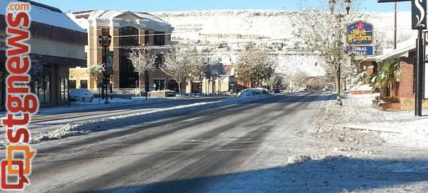 St. George Boulevard, St. George, Dec. 9, 2013 | Photo courtesy of the St. George Police Department, St. George News
