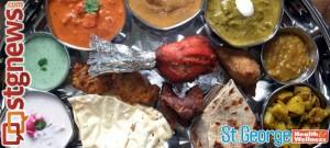 Indian cuisine platter