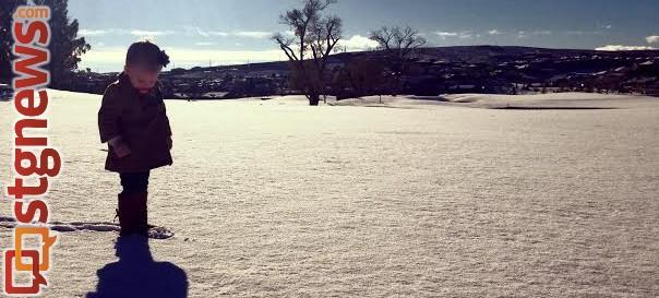 Snow at the Southgate Golf Club Snow in St. George, Utah, Dec. 4, 2013   Photo courtesy of Megan Leech, St. George News