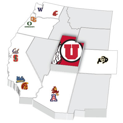 The Runnin' Utes hope to be right in the middle of the Pac-12 basketball race. | Graphic courtesy Utah Athletics