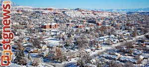 Snow in St. George, Utah, Dec. 8, 2013 | Photo courtesy of Errin Andrus