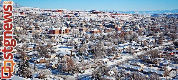 Snow in St. George, Utah, Dec. 8, 2013 | Photo courtesy of Errin Andrus