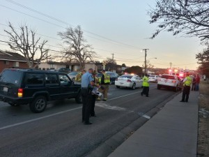 Two-car accident near 700 South and Cambridge Drive, St. George, Utah, Jan. 14, 2014 | Photo by Drew Allred, St. George News