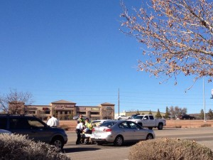 Traffic accident on Red Cliff Drive, St. George, Utah, Jan. 3, 2014 |Photo by Scott Heinecke, St. George News