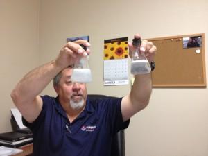 Comparing tap water to soft water,  St. George, Utah, Jan. 24, 2014 | Photo by Scott Heinecke, St. George News
