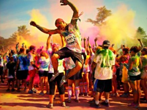 Crowd at Color Me Rad race | Photo courtesy of Color Me Rad