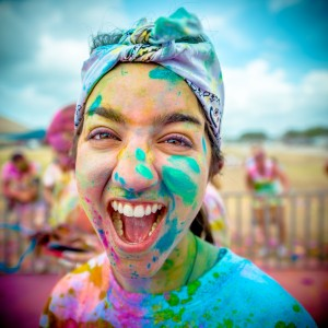 Girl at Color Me Rad race | Photo courtesy of Color Me Rad