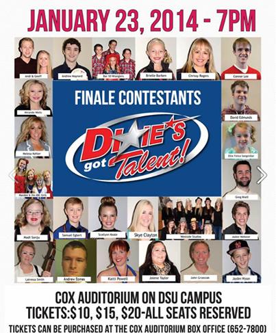 Dixie's Got Talent Flyer