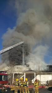 Fire at the USU Washington County 4-H Extension, St. George, Utah, Jan. 8, 2014 | Photo by Mori Kessler, St. George News
