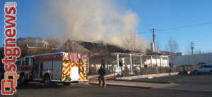 Structure fire, USU Extension Office at 44 North and 100 East, St. George, Utah, Jan. 8, 2013 | Photo by Mori Kessler, St. George News