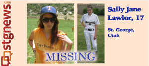 Sally Jane Lawlor, missing-possible runaway from St. George, Utah. L: May 2011, R: 2012 | Photo courtesy of Melody Lawlor, St. George News