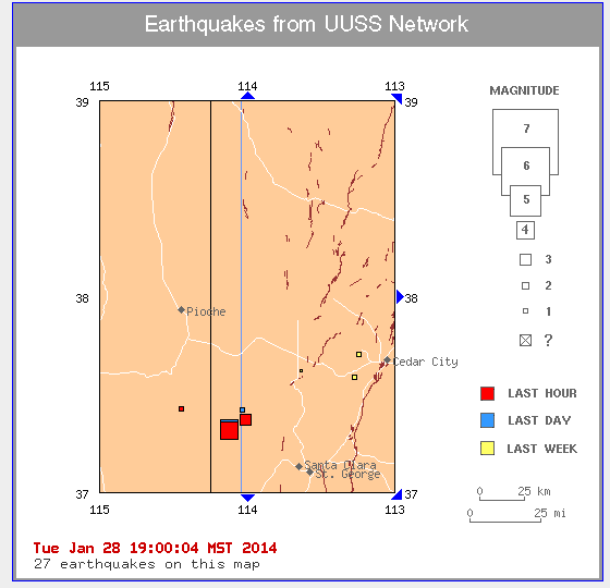Map courtesy of University of Utah Seismograph Stations