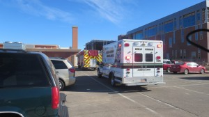 Emergency crews responded to a the report of a man who fell 40-feet from the roof of the new Dixie Middle School, St. George, Utah, Jan. 13, 2014 | Photo by Mori Kessler, St. George News