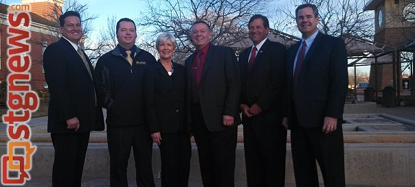 The St. George City Council 2007-2013: (Left to Right) Jimmie Hughes, Ben Nickle, Gail Bunker, Mayor Dan McArthur, Gil Almquist, Jon Pike