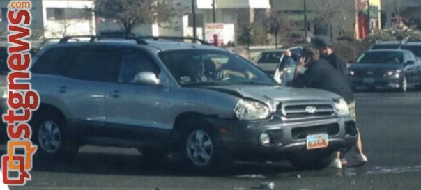 Collision at the Green Springs-Telegraph intersection, Washington, Utah, Jan. 11, 2014 | Photo by Dawn Watts, St. George News
