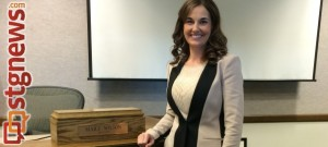 Maile Wilson being sworn in as the new mayor of Cedar City, Cedar City, Utah, Jan. 6, 2014   Photo courtesy of Maile Wilson