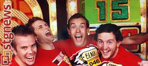 From left to right Evan Whipple, Cody Sanders, Beau Condie, Jonathan Frehner at the Price is Right, Los Angeles, Calif., Jun. 25, 2013 | Photo courtesy of Beau Condie, St. George News
