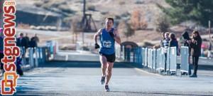 Bryant Jensen, winner of the St. George Half Marathon, St. George, Utah, Jan. 18, 2014 | Photo by Dave Amodt, St. George Utah